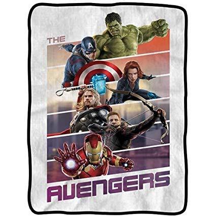 """Marvel's The Avengers """"Band of Heroes"""" Fleece Throw Blanket"""