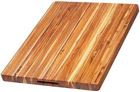 Teakhaus Large Wooden Rectangle Carving Board with Hand Grip