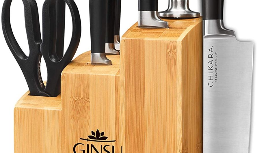 Ginsu Gourmet Chikara Series Forged 8-Piece Japanese Steel Knife Set