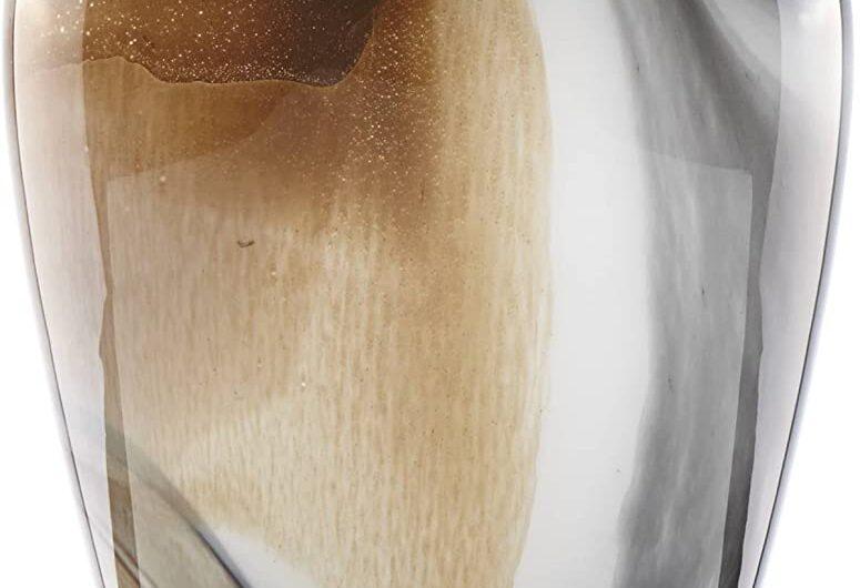 Lenox 871430 Seaview Sand 10″ Tulip Vase, 4.25 LB, Taupe/Grey
