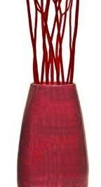 "Uniquewise 27.5"" Tall Bamboo Floor Vase (Red)"