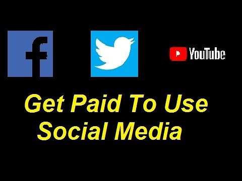 Get Paid to use Facebook Twitter and Youtube